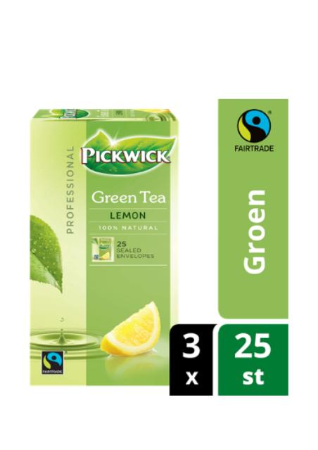 Pickwick Professional groene thee citroen fairtrade 2gr