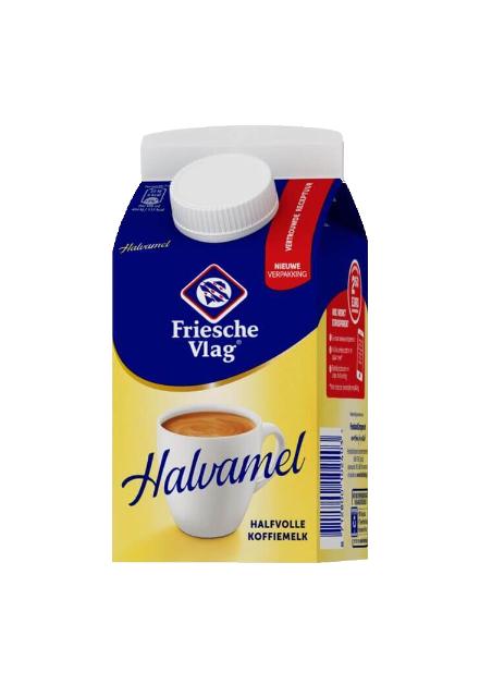 Friesche Vlag Halvamel pak met schenkdop 455ml