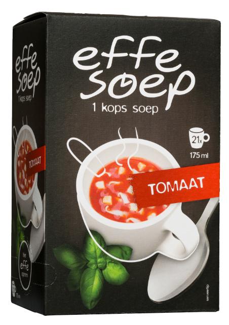 Tomaat 21 sachets Effe Soep.