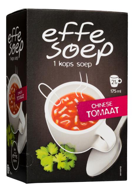 Chinese tomaat 21 sachets Effe Soep.