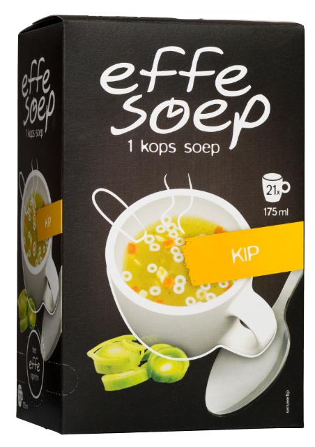 Kip 21 sachets Effe Soep.