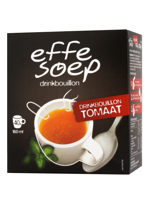 Tomaten drinkbouillon 40 sticks 160 ml Effe Soep