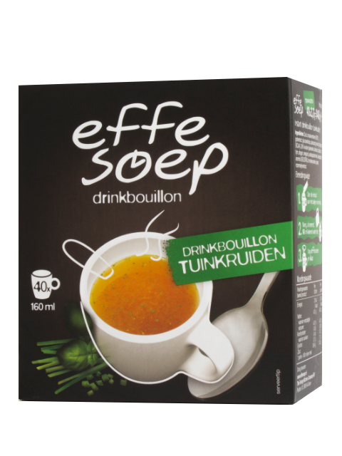 Tuinkruiden drinkbouillon 40 sticks 160 ml Effe Soep